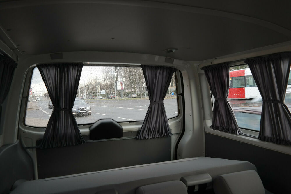 vw t5 t6 multivan transporter ma gardinen grau nur f r. Black Bedroom Furniture Sets. Home Design Ideas