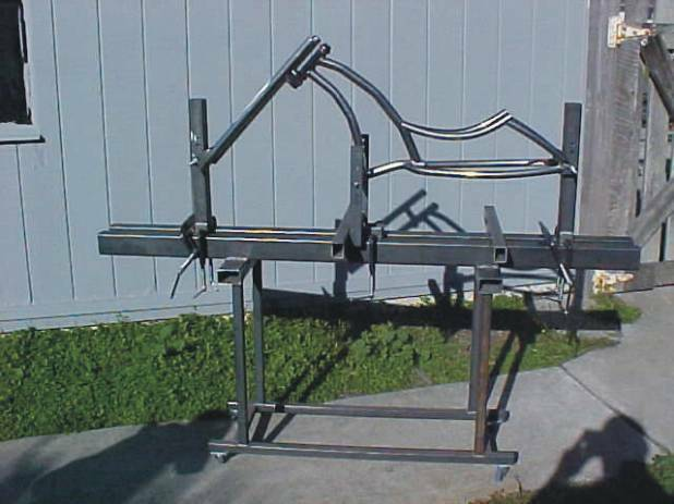 Bicycle frame jig plans build custom chopper bike or ebay Blueprints for sale