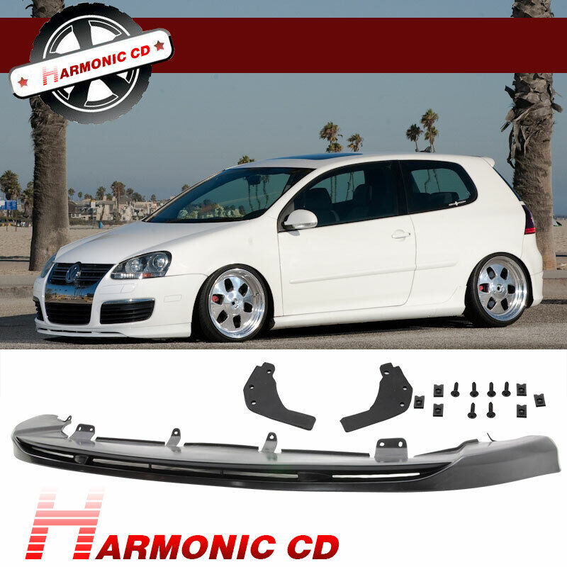 FIT FOR 05-10 VW GOLF 5 GTI VORTEX STYLE FRONT BUMPER LIP