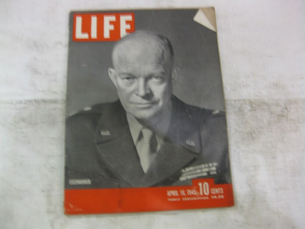 magazine cover template publisher - life magazine april 16th 1945 eisenhower cover publisher