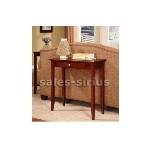 Console wood table hall drawer accent living room Wooden hallway furniture