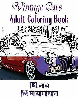 Vintage Cars Adult Coloring Book Design Coloring Book