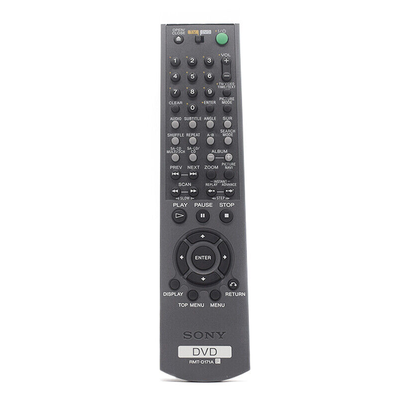 how to play dvd without remote sony