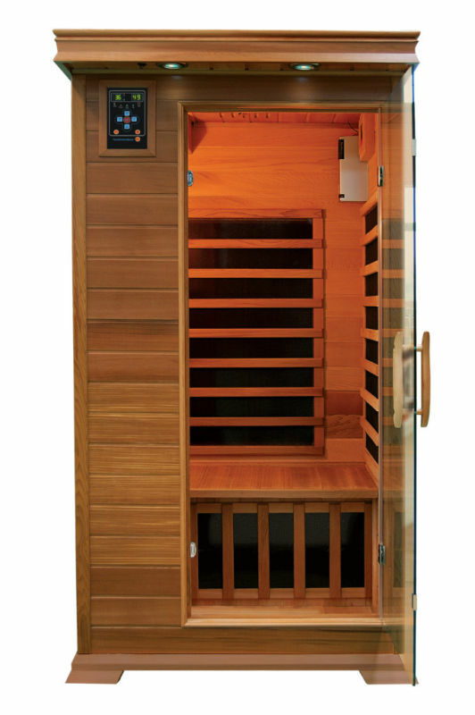1 person elite infrared sauna carbon fiber heat saunas ebay. Black Bedroom Furniture Sets. Home Design Ideas