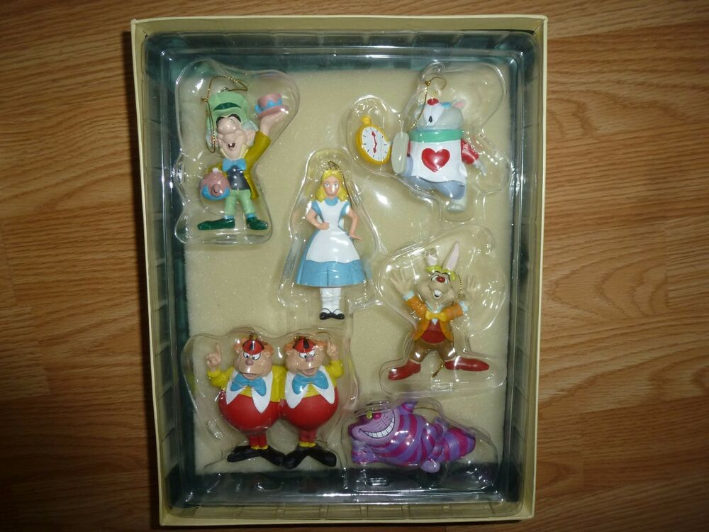 Disney Alice In Wonderland Christmas Ornament Collection