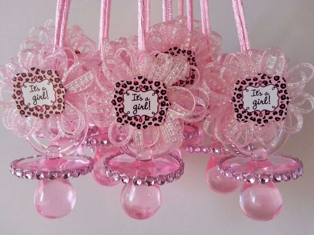 12 pink pacifier necklaces it 39 s a girl baby shower game - Decoration baby shower girl ...