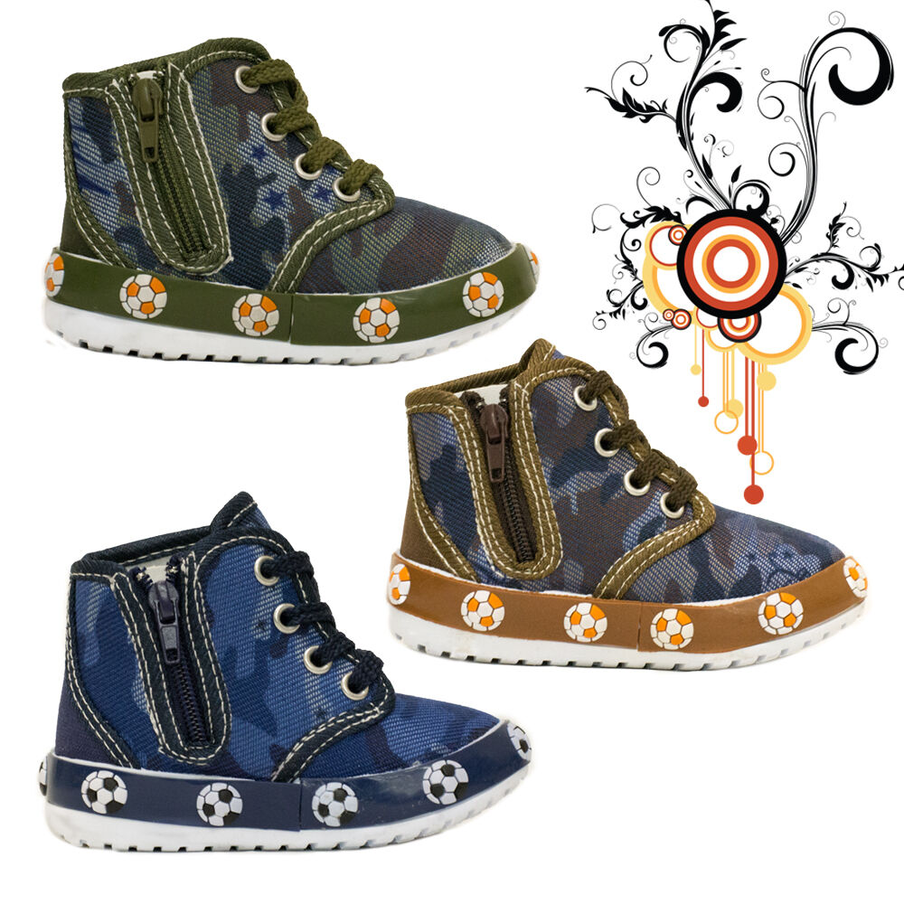 Blue Berry Baby 227 toddler high top canvas shoes Boys