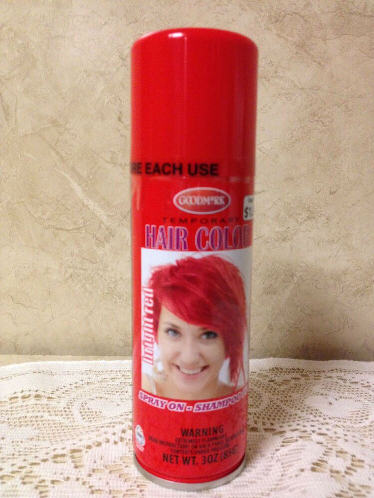 goodmark temporary spray on wash out hair color candy apple red 3 oz. Black Bedroom Furniture Sets. Home Design Ideas