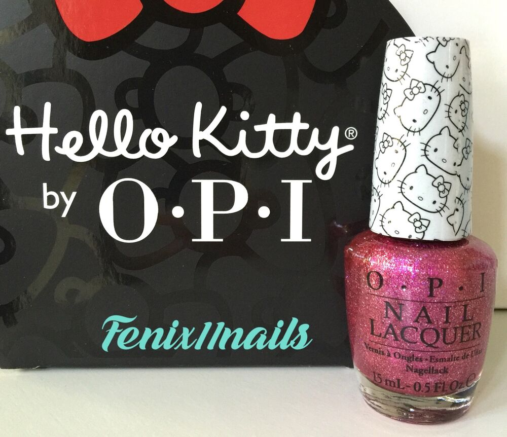 Opi Pink Shimmer Nail Polish: New! OPI HELLO KITTY NL H86 STARRY-EYED FOR DEAR DANIEL