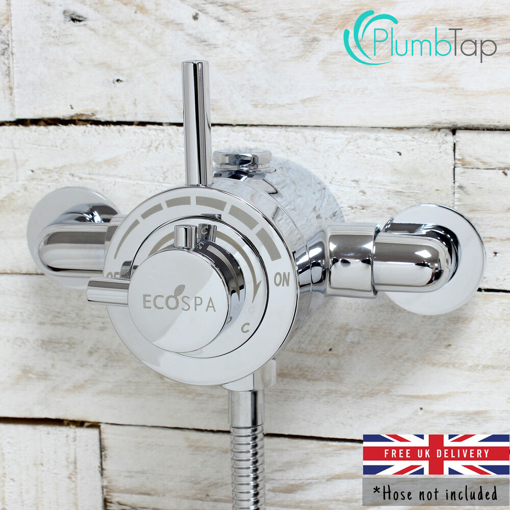 Exposed Modern Concentric Thermostatic Shower Mixer Valve Chrome 1 Outlet Ebay