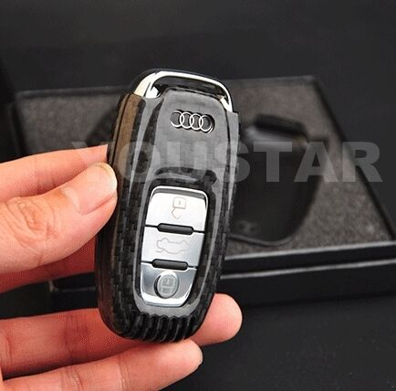 Audi Key Battery >> AUDI GENUINE CARBON FIBRE KEY FOB CASE A1 A2 A3 A4 A5 A6 A7 A8 S4 S6 S8 Q3 5 7 | eBay