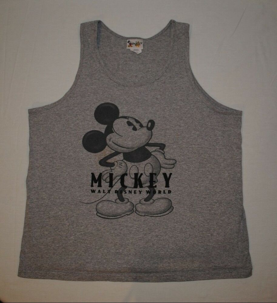 Walt disney world mickey mouse tank top sleeveless t shirt for Oversized disney t shirts