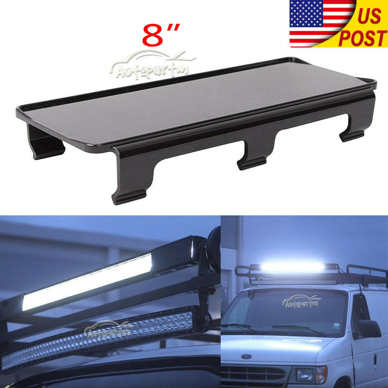 8 Quot Inch Snap On Black Curved Led Light Bar Lens Cover Atv