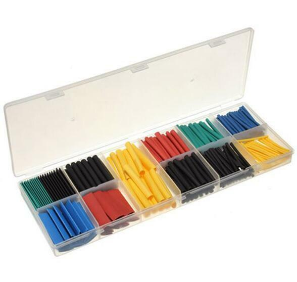New 280pcs 5 Colors 8 Sizes Assorted 2 1 Heat Shrink Tubing Wrap Sleeve Kit Box Ebay