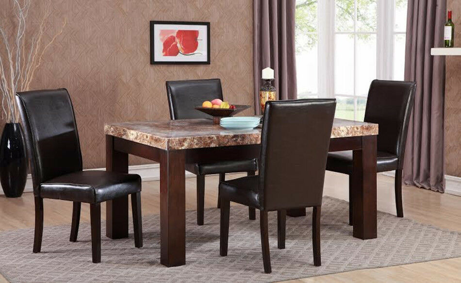 New 5 Piece Faux Marble Top Dinette Dining Set Includes  : s l1000 from www.ebay.com size 950 x 583 jpeg 101kB