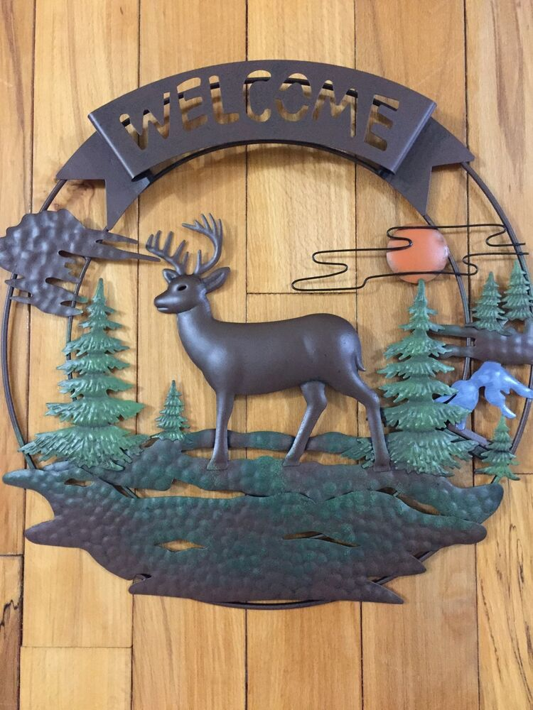 Rustic welcome deer 3d metal wall decor sunset evergreen - Watch over the garden wall online free ...