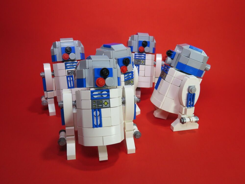 Lego Moc R2 D2 Building Instructions Only Ebay