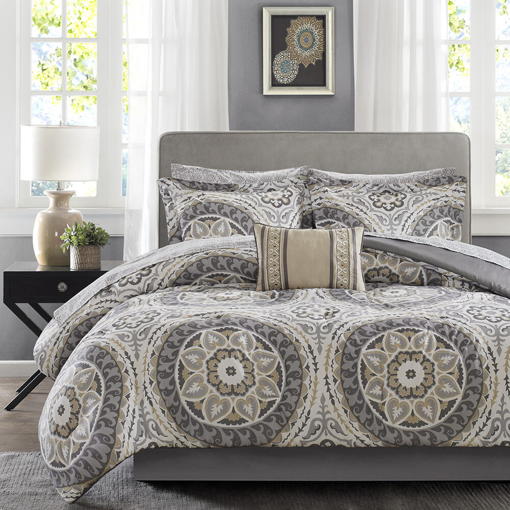 BEAUTIFUL MODERN CHIC TROPICAL EXOTIC BED IN BAG TAUPE