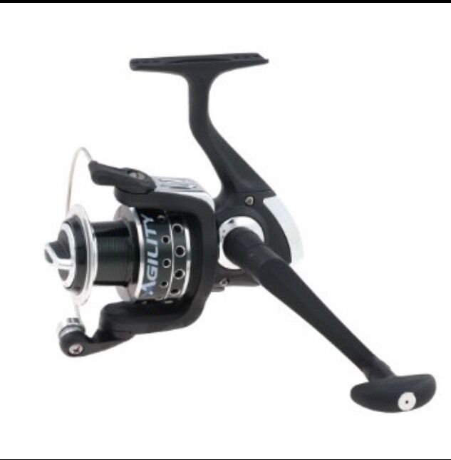 Shakespeare agility 35 spinning reel premium bass for Bass fishing spinning reels