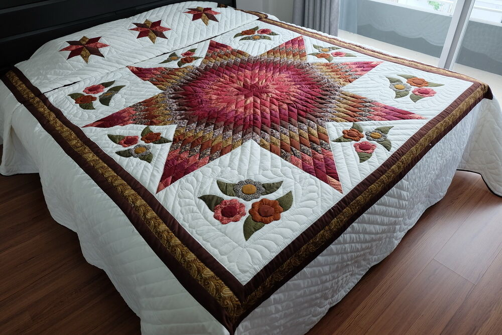 king size handmade quilts quilts bedspread coverlet king size 100 handmade ebay 2632