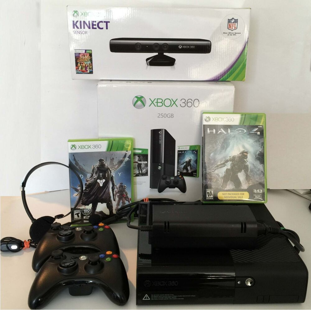 Microsoft XBOX 360 1538 Video Game Console 250GB & Kinect ...