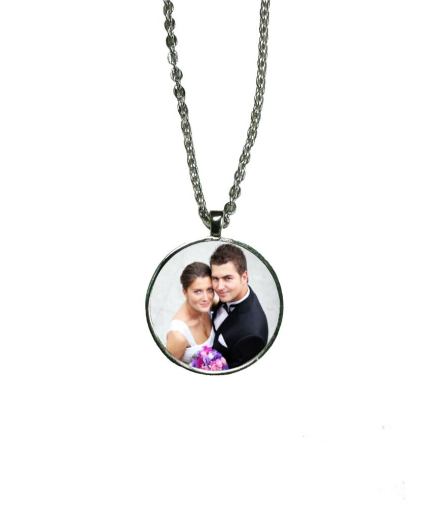 personalised custom printed round necklace pendant great