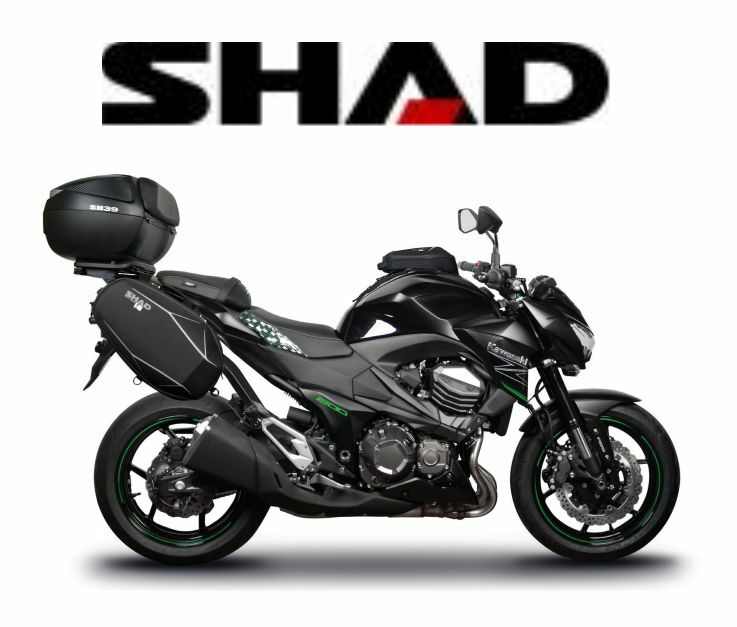 accessoires shad kawasaki z800 moto balade randonn e rangement supports neuf ebay. Black Bedroom Furniture Sets. Home Design Ideas