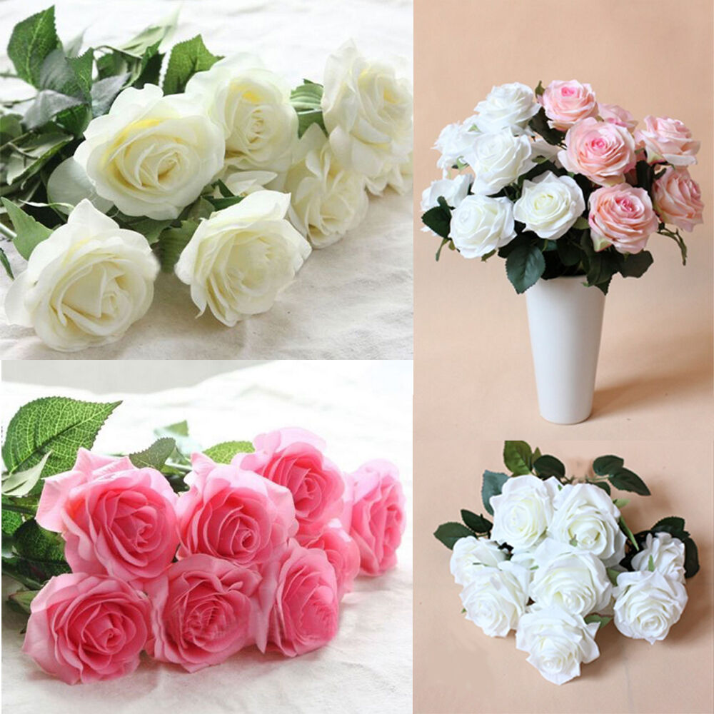 rose silk artificial fake flower home wedding hydrangea