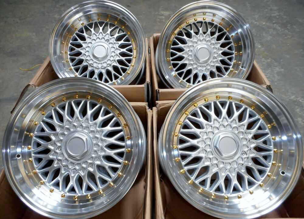 15 dare silver polished alloy wheels 4x100 fits bmw 3 series e30 vw polo golf ebay. Black Bedroom Furniture Sets. Home Design Ideas