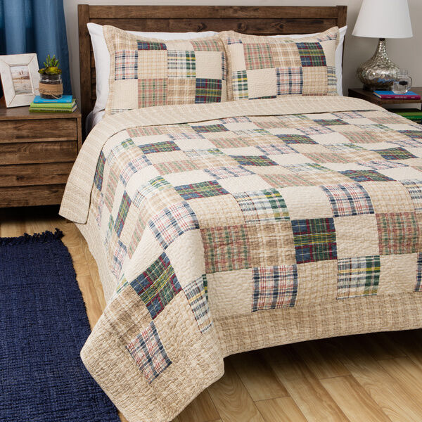 Chic Blue Beige Cotton Linen Plaid Curtains For Boys Bedroom: BEAUTIFUL COZY TAUPE BEIGE BLUE GREEN RED COUNTRY CABIN