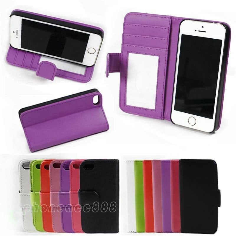 iphone 5s case with card holder luxury flip leather card holder wallet cover for 5958