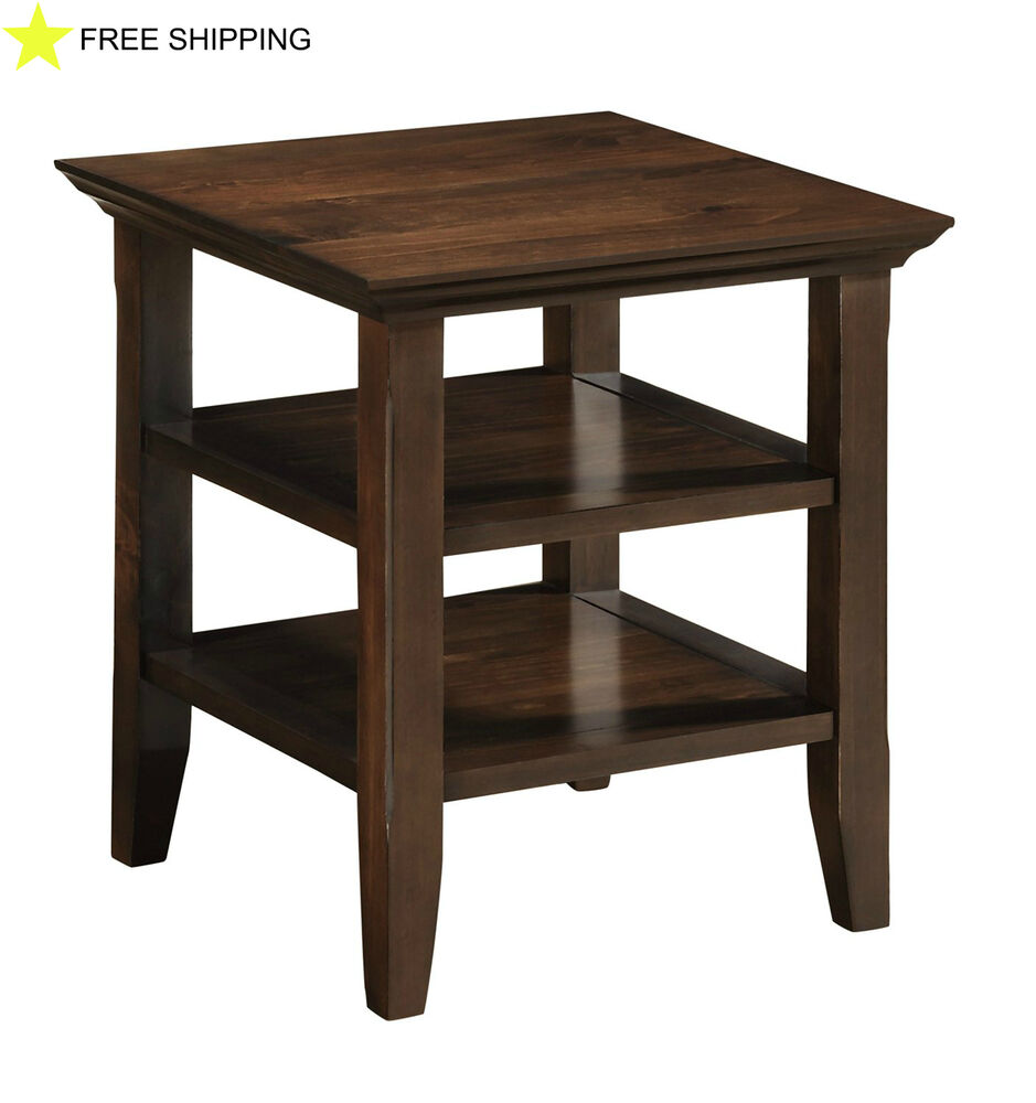 Storage End Tables For Living Room: Office End Side Table Living Room Drawer Furniture Wood