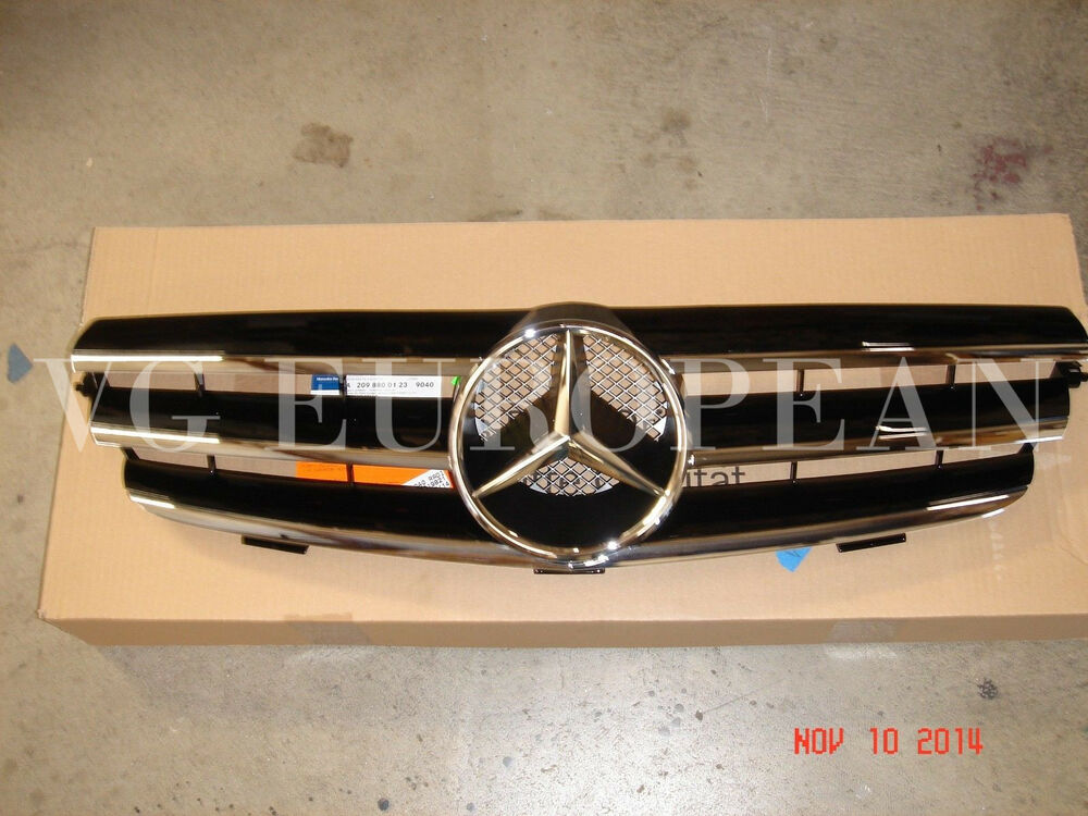mercedes w209 clk class genuine front grille assembly