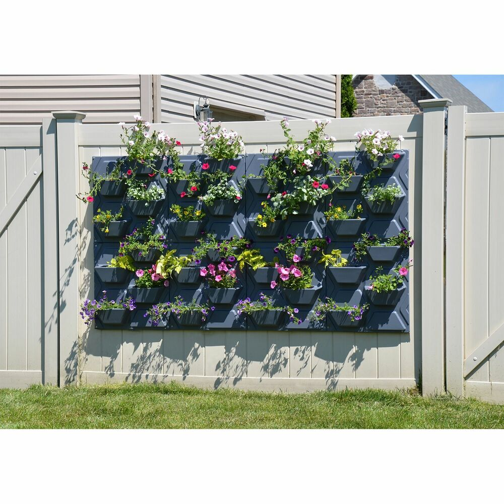 Plantscape large hex vertical garden wall hanging plant flower planter pot panel ebay - Wall mounted planters outdoor ...