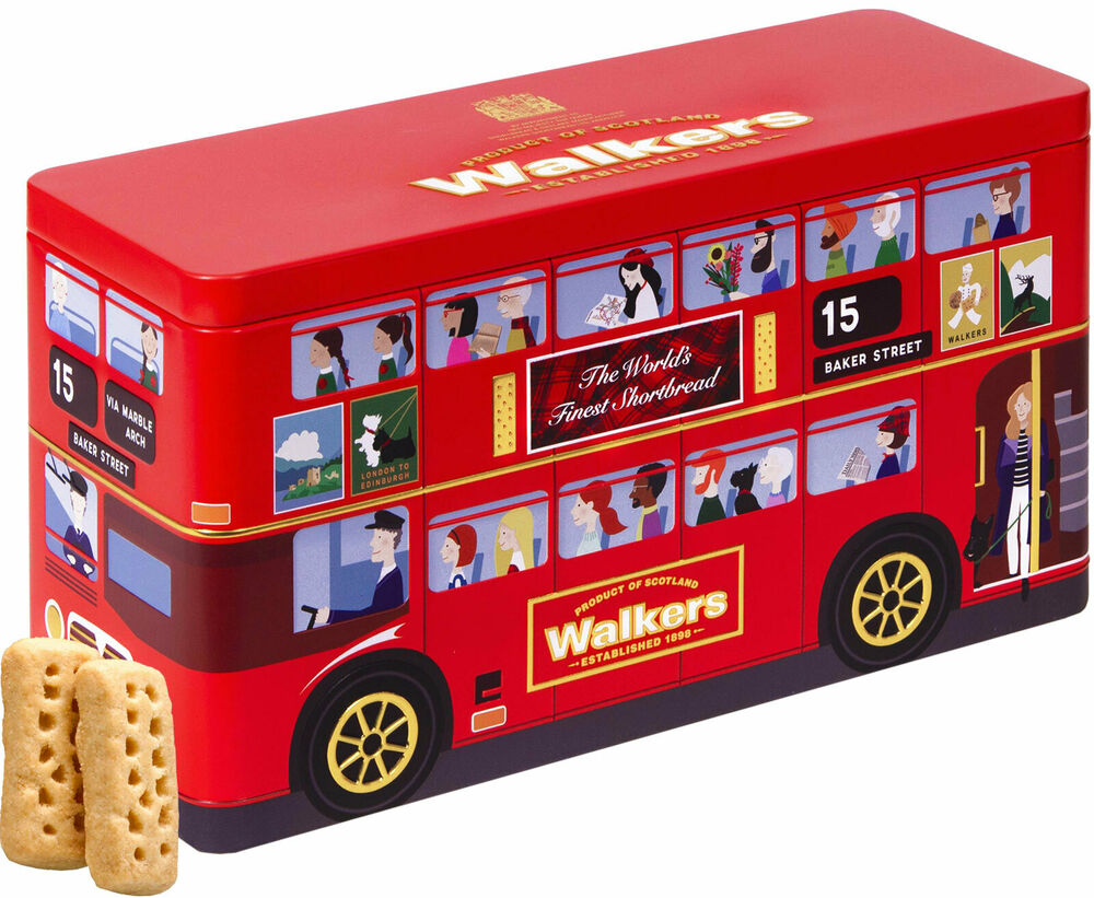 walkers kekse geschenkdose london bus 450g grundpreis 100g. Black Bedroom Furniture Sets. Home Design Ideas