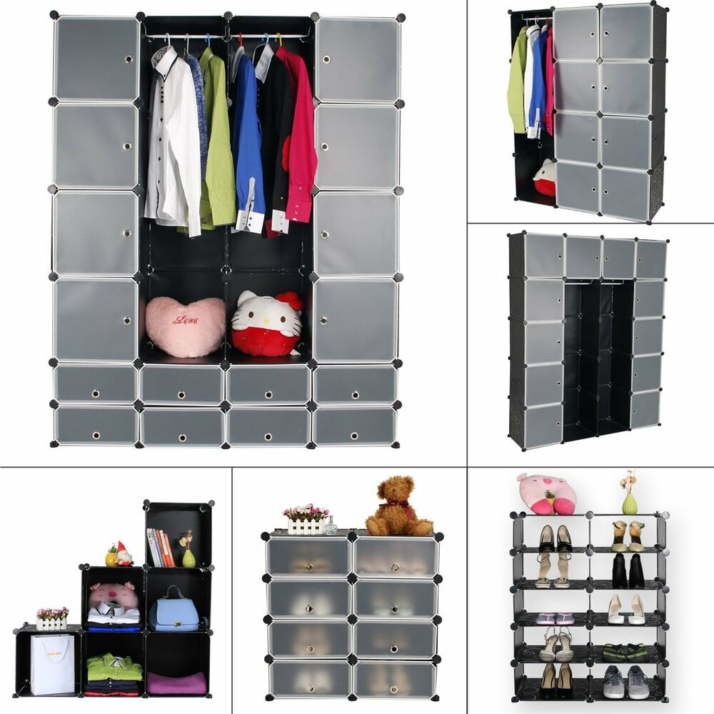 regalsystem kleiderschrank schuhregal diy badregal steckregal garderobe xxl xxxl ebay. Black Bedroom Furniture Sets. Home Design Ideas