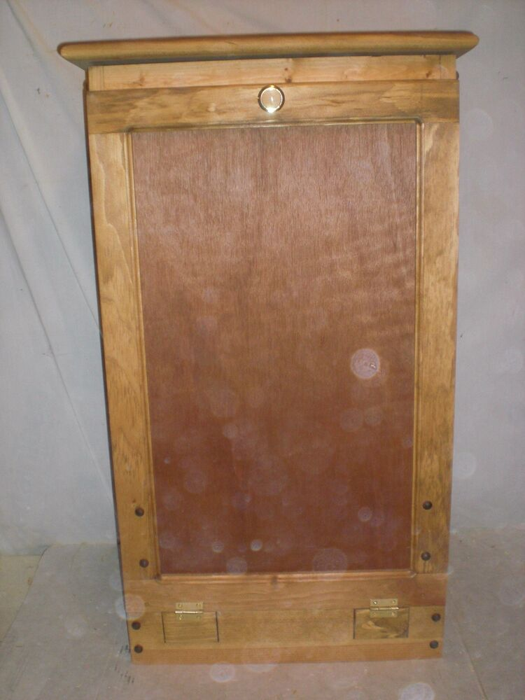wooden pull out trash bin for the kitchen
