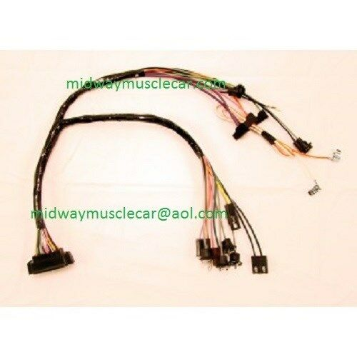 console wiring harness manaul trans w console gauges 1968