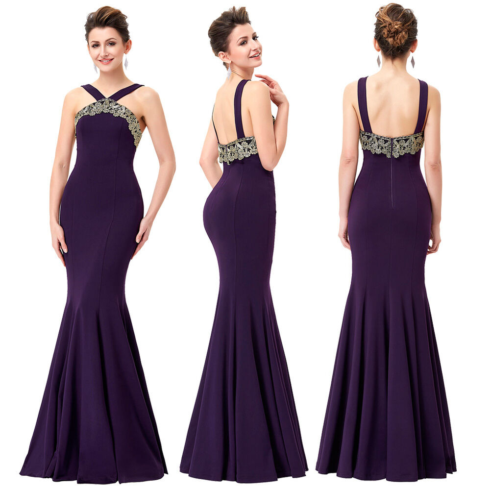 Sexy long prom dress bridesmaid evening formal party for Ebay wedding bridesmaid dresses