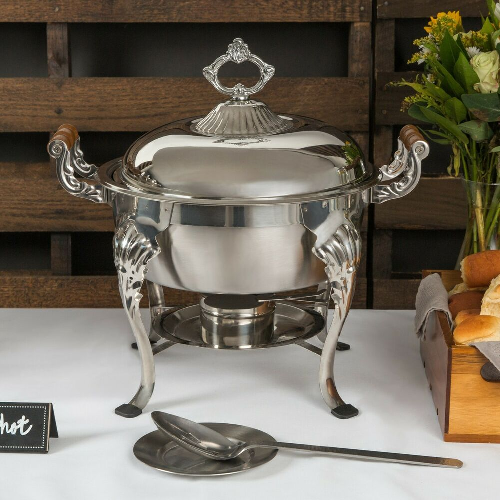 Choice Classic Round 5 Qt Stainless Steel Chafing Dishes