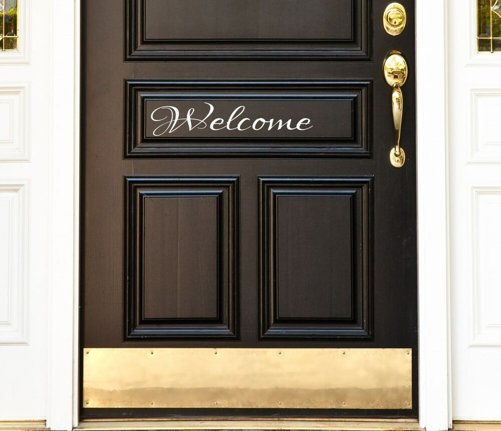 Front Door Welcome Vinyl Decal Sticker 9 Quot Home Decor