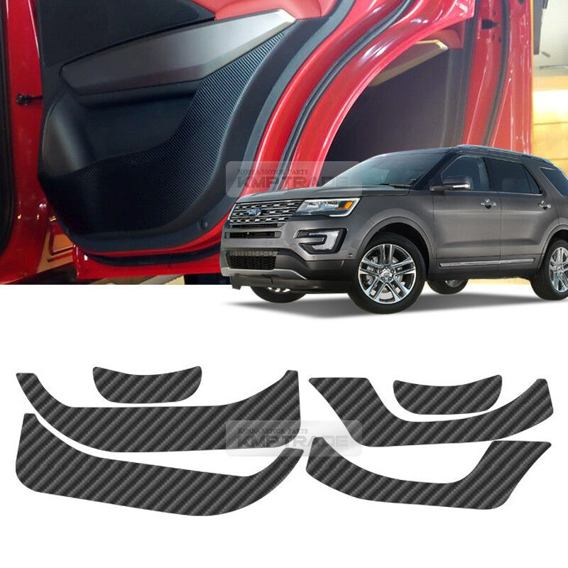 Carbon Black Door Decal Sticker Cover Kick Protector For