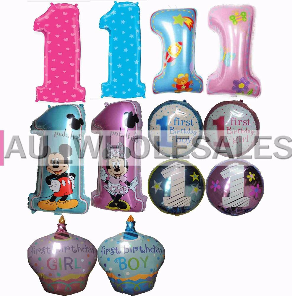 1st birthday number one balloon baby boy girl birthday for Number 1 decorations