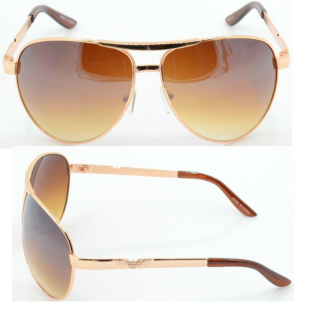 bf604151baeb Men s Gold Frame Aviator Glasses Fashion
