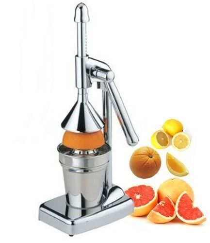 manual press orange citrus juicer juice extractor stainless steel new heavy duty ebay. Black Bedroom Furniture Sets. Home Design Ideas