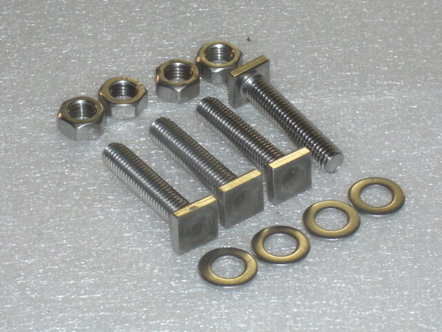 M mm quot stainless tee bolts nuts washers pcs