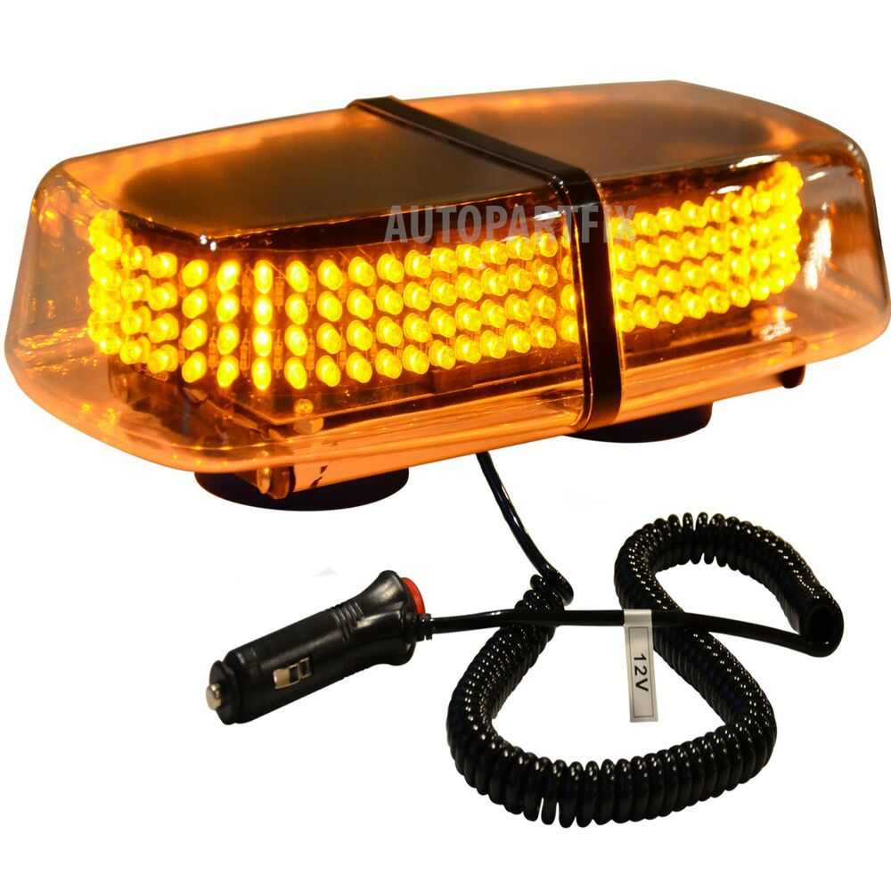 240 led magnetic amber yellow emergency truck strobe flash light warning roof ebay. Black Bedroom Furniture Sets. Home Design Ideas