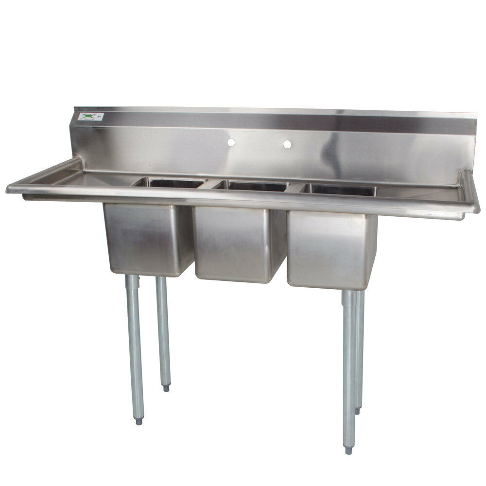 ... Stainless Steel NSF Listed Commercial Sink with Two Drainboards eBay