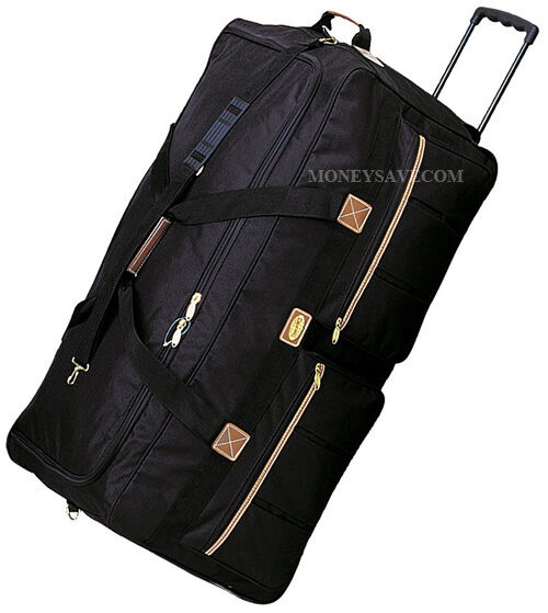 36 Quot Black Polyester Rolling Duffel Wheeled Luggage