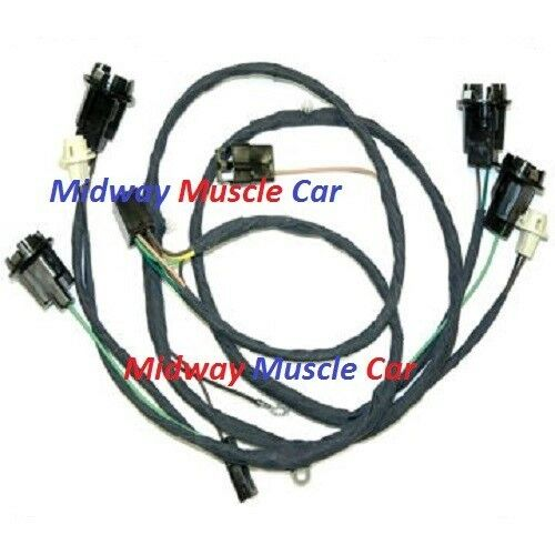 rear body tail light wiring harness 66 67 Chevy Chevelle ...